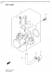 163D  -  Throttle  Body  (Df15A  P01) (163D - Дроссель газа (Df15A P01))