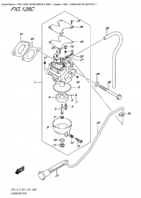 128C  -  Carburetor  (Df6  P01) (128C - Карбюратор (Df6 P01))