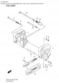335A - Clamp Bracket (Dt9.9A P40) (335A - Кронштейн транца (Dt9.9A P40))